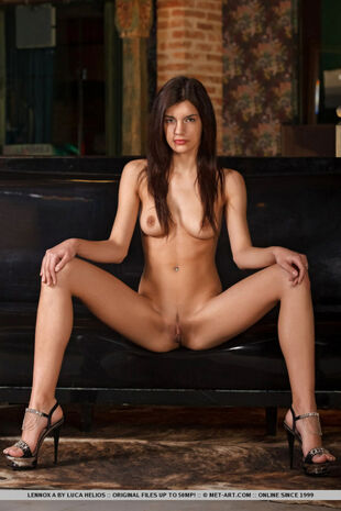 Sultry long-haired dark-haired Latina little girl woman..